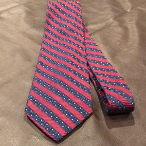Oxxford oxford crest rep stripes tie red navy 001
